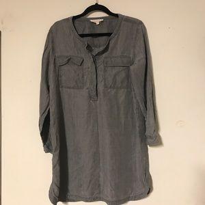 Tura by Vince Camuto Gray long sleeve Shirt Dress